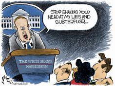 Political Cartoon U.S. Spicer Press Conference White House Media