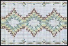 Vagonite - Punto Yugoslavo Swedish Embroidery, Types Of Embroidery, Diy Embroidery, Embroidery Stitches, Embroidery Patterns, Weaving Designs, Weaving Projects, Huck Towels, Swedish Weaving Patterns
