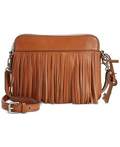 10d5e72e2d51 Fossil Sydney Leather Fringe Crossbody Fringe Handbags