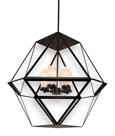contemporary glass lighting. Hedron Chandelier Contemporary, Transitional, Glass, Metal, By  Hammerton Contemporary Glass Lighting N