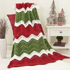 Ravelry: Holiday Ripple Afghan pattern by Willow Yarns Design Team