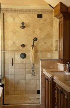 glass block window shower design, pictures, remodel, decor and