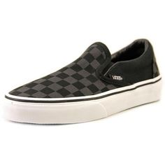 Vans Authentic Women Sneakers ($40) ❤ liked on Polyvore featuring shoes, sneakers, black, round toe sneakers, vans footwear, checkered sneakers, round cap and vans trainers