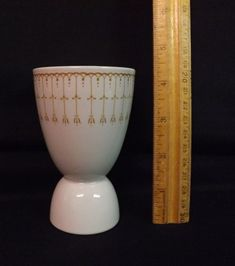 Grindley England Double Egg Cup with Interesting Deco Pattern. Great Condition. #Grindley