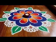 Rangoli Designs with Colours by Shital Daga, Easy and Simple Rangoli Designs,Diwali rangoli designs - YouTube