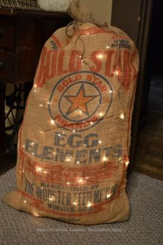 old burlap coffee sacks . Burlap Coffee Bags, Coffee Sacks, Coffee Nook, Outdoor Christmas Decorations, Christmas Crafts, Christmas Ideas, Chicken Wire Crafts, Burlap Sacks, Feed Bags