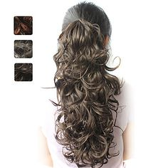 High Quality Synthetic 20 Inch Curly Ponytail Hairpiece 3 Colors Available – USD $ 9.99