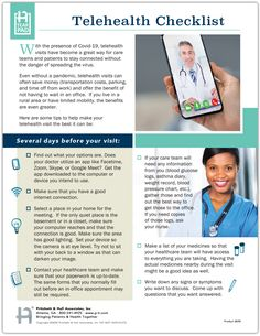 With the presence of Covid-19, telehealth visits have become a great way for care teams and patients to stay connected without the danger of spreading the virus. This telehealth checklist tearpad gives patients tips on making their telehealth visit the best that it can be. Health Remedies, Saving Money, How To Become, Education, Tips, Save My Money, Onderwijs, Money Savers, Learning