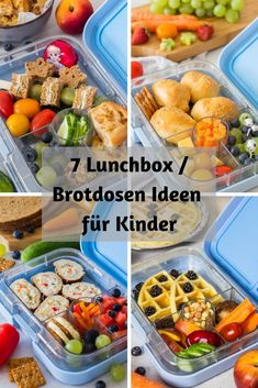 7 schnelle Ideen für die Kinder Lunchbox / Brotdose ⋆ 7 healthy & quick ideas for the kids lunch box. Delicious snacks, fruits and vegetables for kindergarten, daycare, school or just on the go. Healthy Chicken Recipes, Baby Food Recipes, Dinner Recipes, Yummy Snacks, Healthy Snacks, Pizza Buns, Kids Meals, Easy Meals, Lunch Boxe