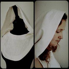 Bekijk dit items in mijn Etsy shop https://www.etsy.com/listing/512131229/made-to-order-white-linen-hood-bridal