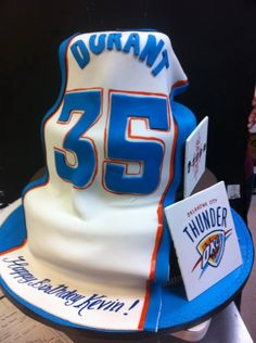 okc thunder cakes | Kevin Durant Celebrates Birthday In Miami With Thunder Cake