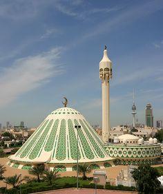 Photo about Fatima Mosque in Kuwait Islamic masjed. Image of minaret, fatma, kuwait - 7236415 Mosque Architecture, Sacred Architecture, Religious Architecture, Futuristic Architecture, Beautiful Architecture, Architecture Design, Islamic World, Islamic Art, Temples