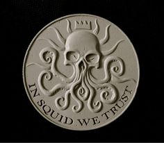 """""""This winter from Skelton Crew and @Templesmith, sculpted by @JDMacSculpts. The Squidder coin, 4.25"""" of awesome."""""""