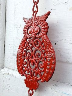 Owl Decor Garden Bell Cast Iron and Metal Retro by CamillaCotton, $14.50