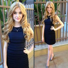 """Kat McNamara Looked So Beautiful In Blue For Hugh Jackman's """"One Night Only"""""""