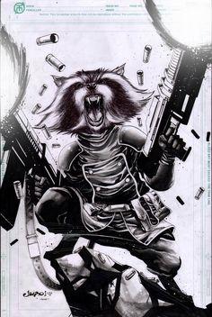 Rocket Raccoon by Jimbo Salgado
