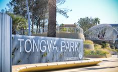 Tongva Park Entry Signage