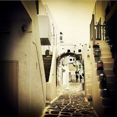 The street I grew up on ! #paros #cyclades #greece #naousa