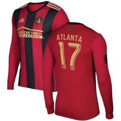Show off your die-hard Atlanta United FC pride with this adidas Atlanta Supporter jersey. This awesome jersey features team graphics and is made to look like what the players wear on game day. It's the perfect thing to sport on Atlanta United FC game day. Rose Gold Adidas, Black Adidas, Adidas Men, Adidas Shirt, Atlanta United Fc, Adidas Workout Clothes, Sports Uniforms, Bikini Fashion, Nike Women