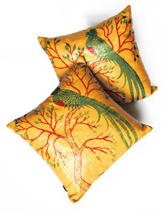 Upcycled Eco Pillow. Plastic Coffee Sack Pillows by The Mayan Store.  Available at www.themayanstore.com