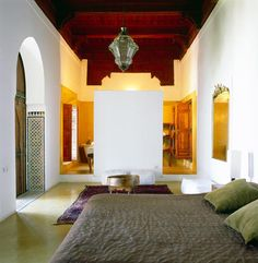 I think that I would like to live in a Moroccan Riad. Clean simple lines, an open feel, great colors and best of all a courtyard or garden in the middle!