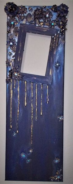 Long mixed media canvas. Picture frame!