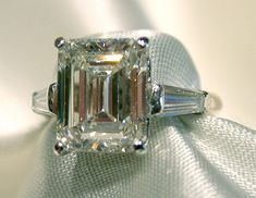 "Emerald cut rings are like ""pillars of light"".  You have to have a good diamond for this cut."