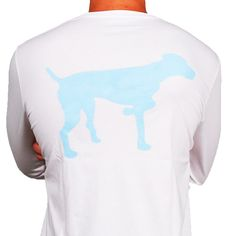 SPC Signature Long Sleeve Vintage Logo Tee in Light Blue & White by Southern Point Co.