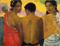 Trois Tahitiens ou Conversation (P Gauguin)
