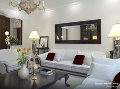 Modern Living Room Mirrors to Elevate Your Interior Design Living Room Mirrors, Living Room Furniture, Living Room Decor, Wall Mirrors, Furniture Layout, White Furniture, Framed Wall, Wooden Furniture, Room Wall Decor