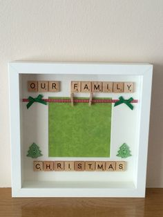 Our Family Christmas Scrabble Style Photo by DLSScrabbledWithLove