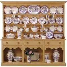 Stokesay Ware miniature dolls house china :: Large Blue and White Dresser