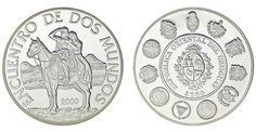 250 SILVER PESOS/PLATA. URUGUAY. 2000. ENCUENTRO DE DOS MUNDOS. PROOF.