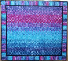 Quilt made with Rainbow Hand Dyed fabric