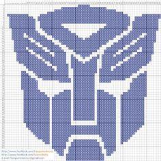 Dibujos Punto de Cruz Gratis: Logo Transformers - Punto de cruz