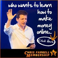 """Chris Farrell is one of the most respected and successful internet marketers in the industry today. Chris Farrell reveals """"How To Make Money Online in 3 Simple Steps!"""" He has been Voted No.1 Internet Coaching Program for the last 3 years 2011/2012/2013. Discover how to really make money online (from someone who is actually doing it!) His system proves how to really make money online."""