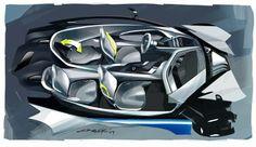 BMW Vision Interior Key Sketch.