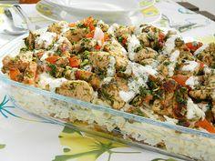 Dr Ola's kitchen: Chicken Shawerma Fettah فتة شاورما الدجاجReis-Hähnchen Gericht