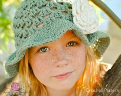 CROCHET PATTERN  Summer Fling Sun Hat with 3 by BusyMomDesigns, $3.95