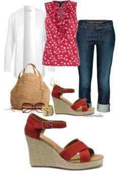 Toms Women's Strappy Wedges Canvas Shoes Red   #tomsclearance2014
