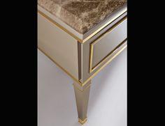 Lutetia L10 Luxury Italian Bathroom Furniture in Grey Lacquered Wood