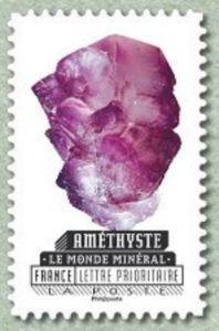 Sello: Amethyst (Francia) (The mineral world) Yt:FR A1221,Mi:FR 6347
