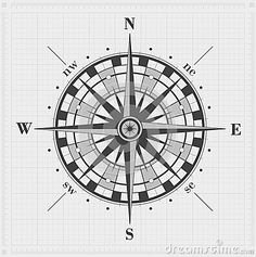 Compass Rose Over Grid. - Download From Over 33 Million High Quality Stock Photos, Images, Vectors. Sign up for FREE today. Image: 40516856