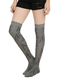 Harry Potter Deathly Hallows Over-The-Knee SocksHarry Potter Deathly Hallows Over-The-Knee Socks,