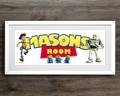 Toy Story Nursery, Toy Story Bedroom, Toy Story Baby, Toy Story Crafts, Name Art, Wedding Favor Boxes, Buzz Lightyear, To Infinity And Beyond, Name Signs