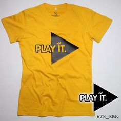 """P L A Y  I T"". Ladies Tees.  Polyflex Black by @eiffashion | Code : 678_KRN | IDR. 85.000 | Only Size L | Order text to : 08195125968 / pin: 22F33330. E : silvas_clothing@yahoo.com  #silvasoriginals #eiffashion #tees #ladiesfashion #poliflex #kaos #tumblrtees #kaostumblr #apparel"