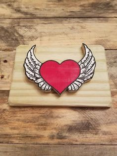 Corazon con alas (heart with wings) Wood Wall Art, folk art, artesanal kids room decor, nursery decor, playroom decor, rustic wall decor, by BeautifiedCreation on Etsy https://www.etsy.com/listing/512132674/corazon-con-alas-heart-with-wings-wood
