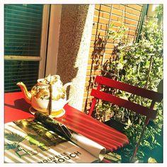 #théière #teatime #terrasse #paris (juin 2014)