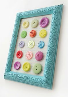 Button art on the cheap. ~ Mod Podge Rocks!