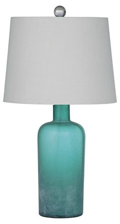 Lilly Glass Table Lamp, Blue